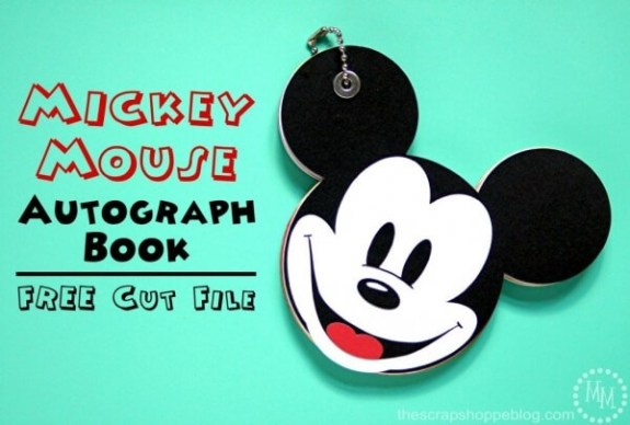 Week 219 - Mickey Mouse Autograph Book from The Scrap Shoppe Blog