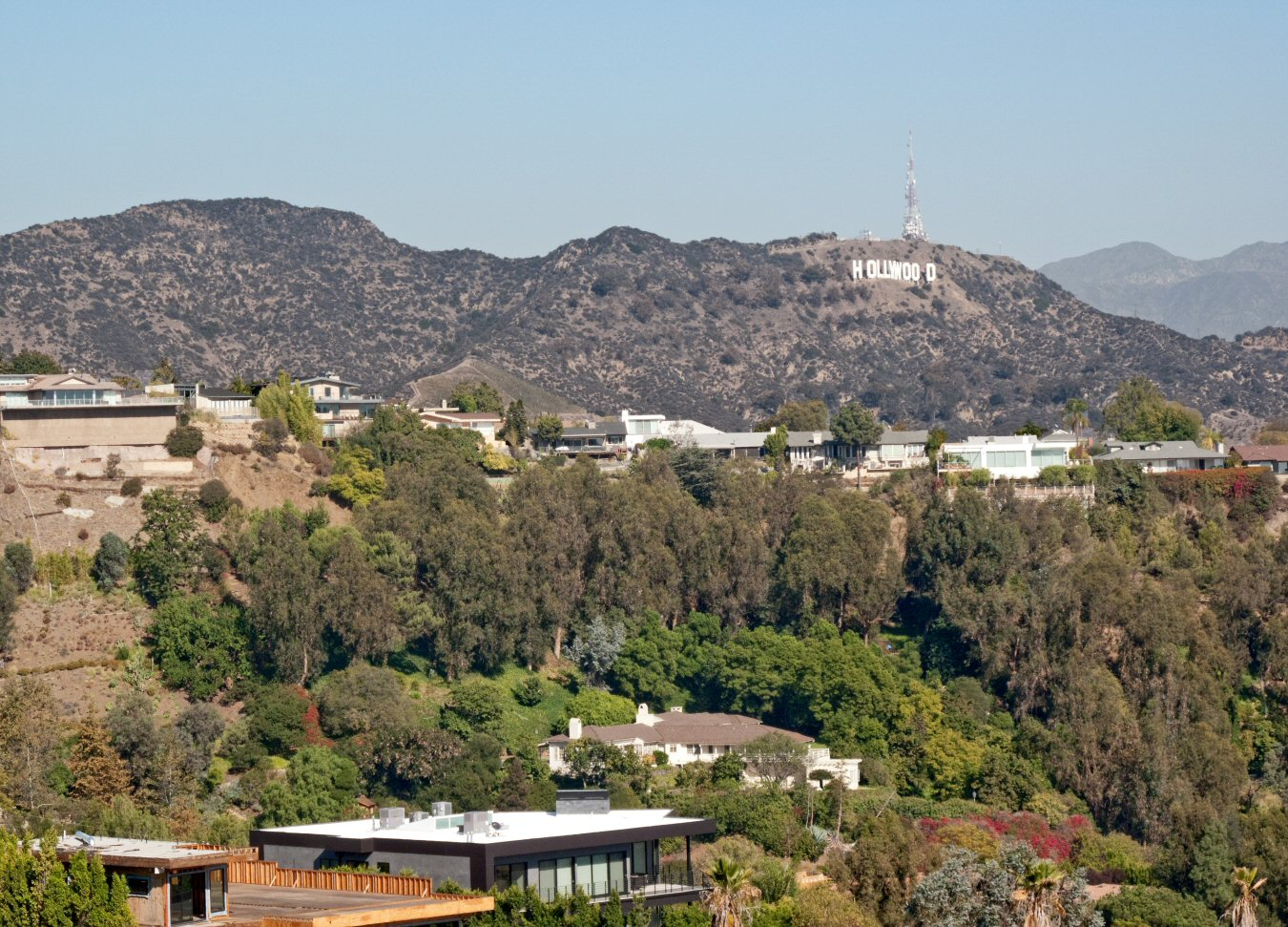 Hollywood Sign from Runyon Canyon Trail