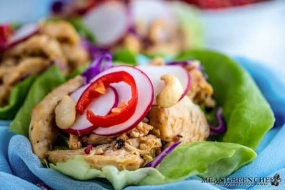 Week 220 - Thai Chicken Lettuce Wraps from Mean Green Chef