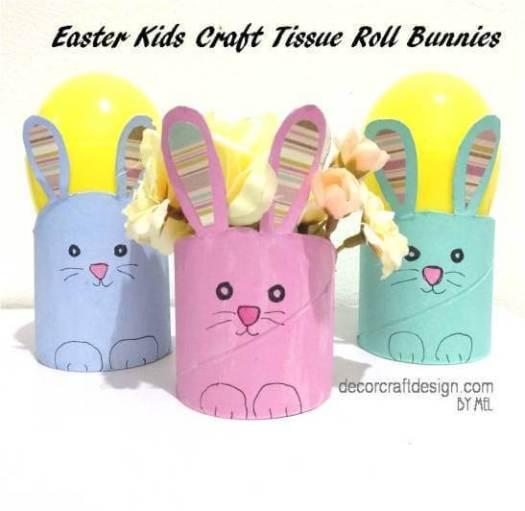 Week 221 Easter Kids Craft Tissue Roll Bunnies from Decor Craft Design