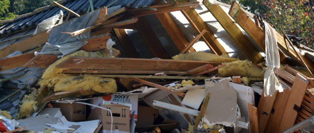 wood home remodel debris