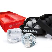 Sphere Ice Mold & Big Ice Cube Trays - Reusable & BPA Free (Various Colors)
