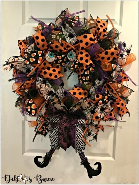 Week 243 Halloween Witch Wreath from Deebees Buzz