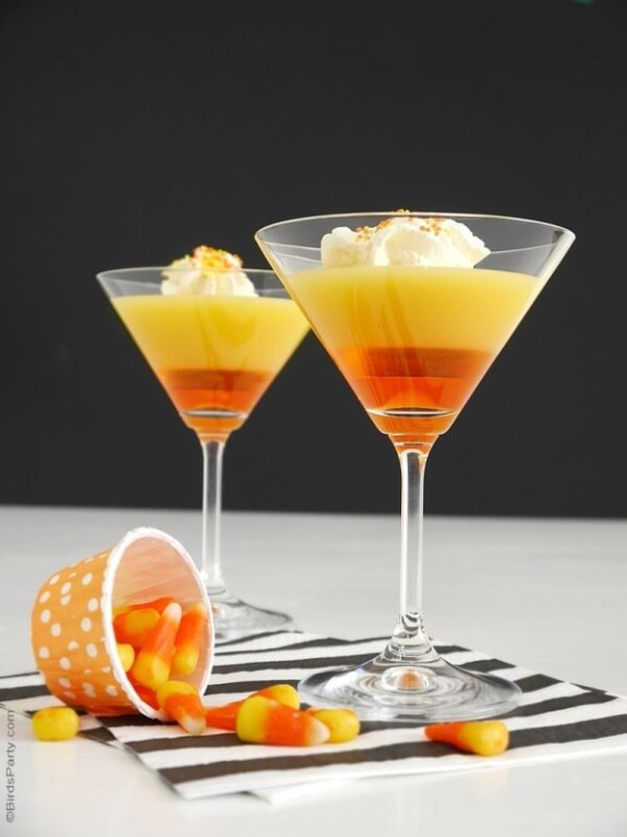Week 250 Candy Corn Cocktail Recipe from Bird's Party