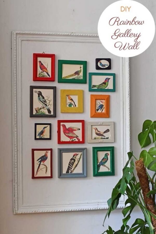 Week 252 - DIY Rainbow Gallery Wall from Picture Box Blue