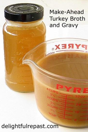 turkey broth and gravy to make ahead
