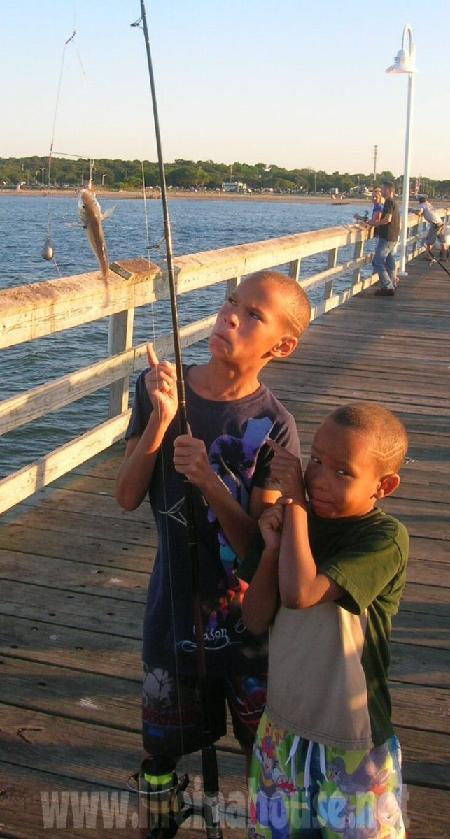 life in a house - sons fishing with dad 2010