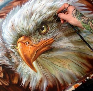 airbrush painting feature