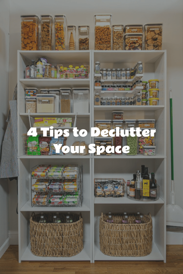 4 tips to declutter your space