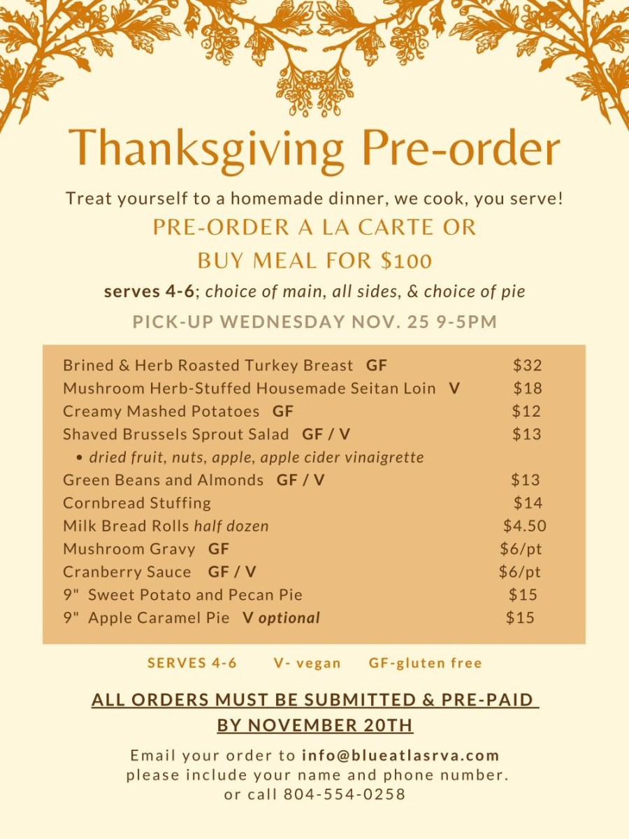 blue atlas restaurant thanksgiving 2020