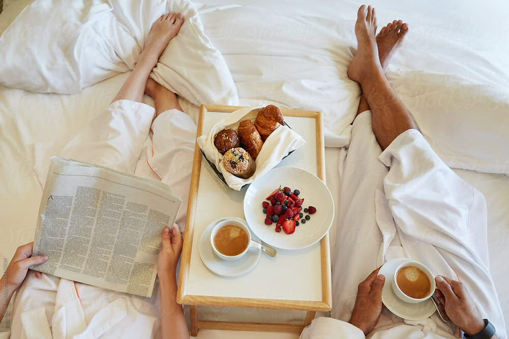 romantic breakfast in bed anniversary