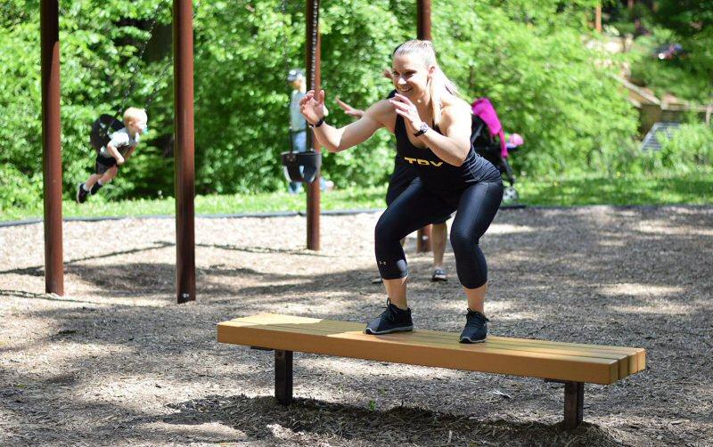 full body playground workout