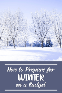 how to prepare for winter on a budget