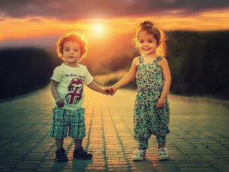 children sunset