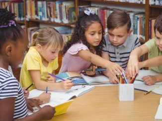 gifted children around table