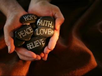 Hope, Faith, Peace, Love, Believe