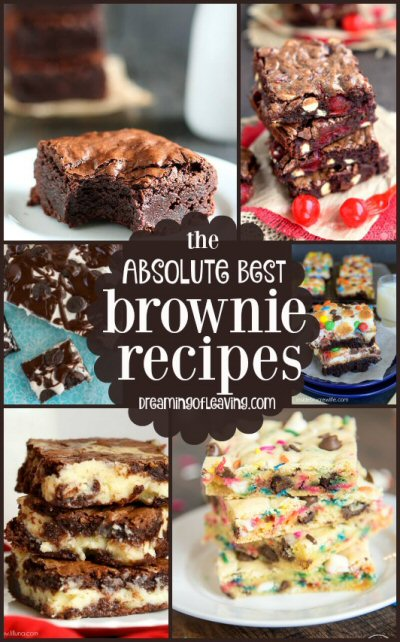 Sunday's Best Featured Post Week 59 - Absolute Best Brownie Recipes from Dreaming of Leaving