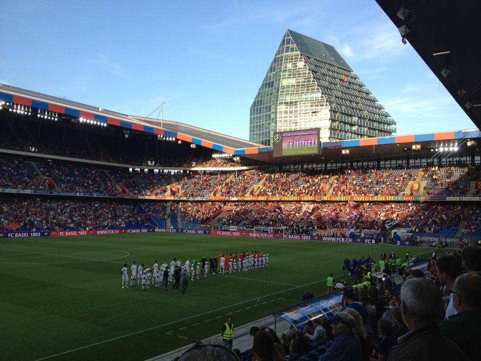 St. Jakob Stadium and FCB - Photo courtesy of Simon Hoggett