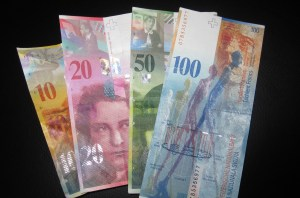 Picture of swiss paper currency
