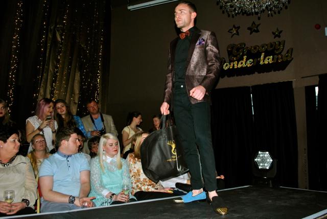 newcastle fashion week male model odd shoes