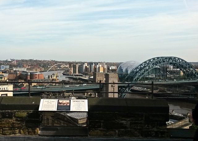 The view from the top of Newcastle Castle