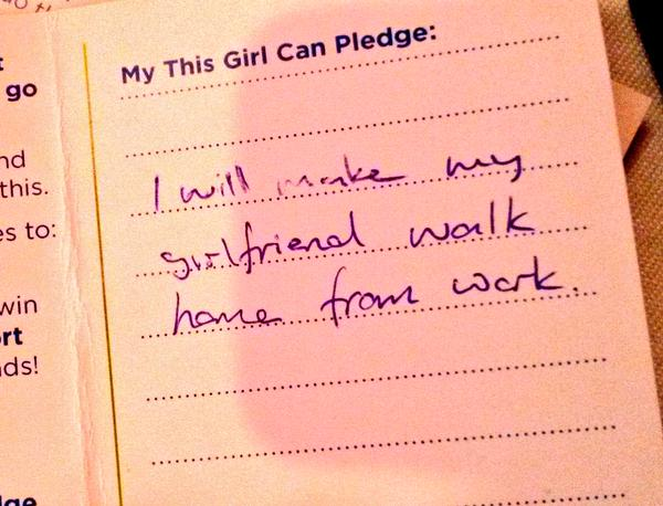 Even James made a pledge, how supportive!?