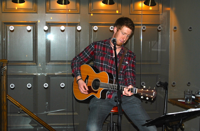 Gareth Beddard, a local musician from Northumberland who provided the perfect soundtrack to our evening. The Bank Blogger Event