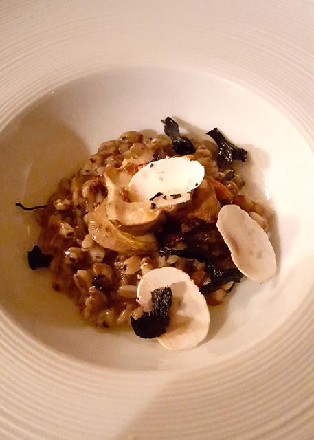 pearled spelt, wild mushroom and truffle