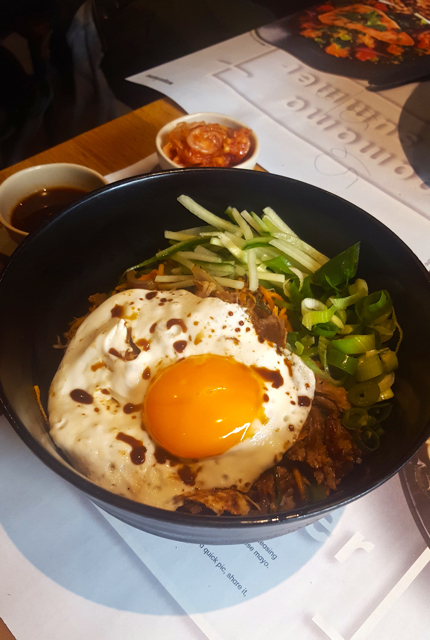 korean japanese food with egg