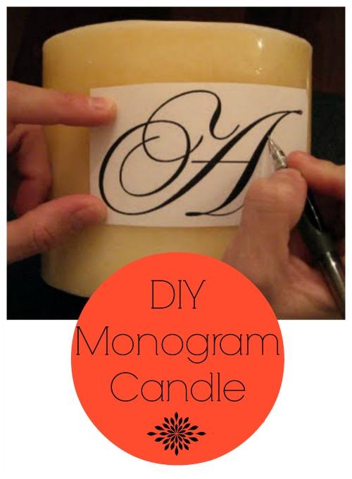 monogramcandle