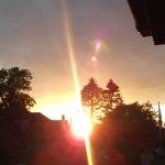 Orbs in pictures at sunset