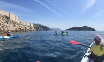 Sea Kayaking alongside the Dubrovnik City walls and across to Lokrum