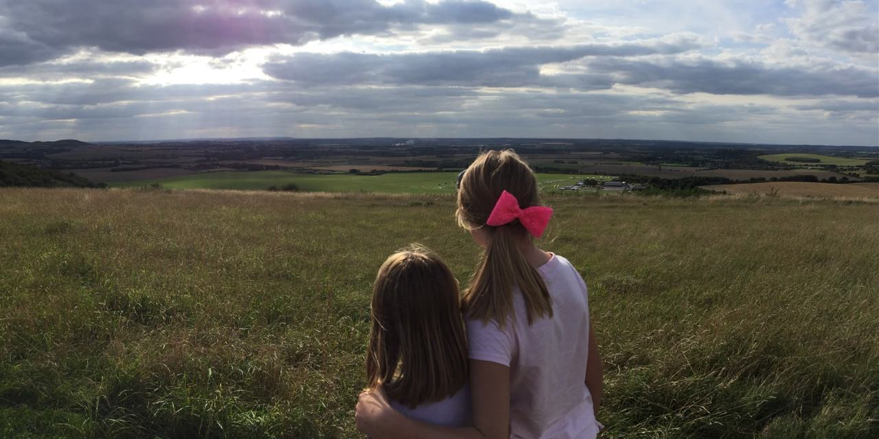 Motorhoming in England |  Family Biking Fun on the Dunstable Downs