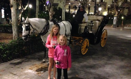 Delivering two little princesses in their horse drawn carriage in Seville