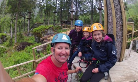 Tested our Inner Monkeys on the Voss Active High Ropes course!