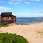 spa hut over ocean