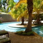 spa pool relaxing at Half Moon