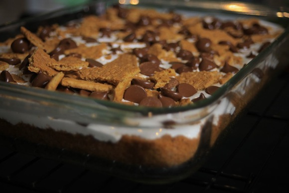 s'more brownie bar