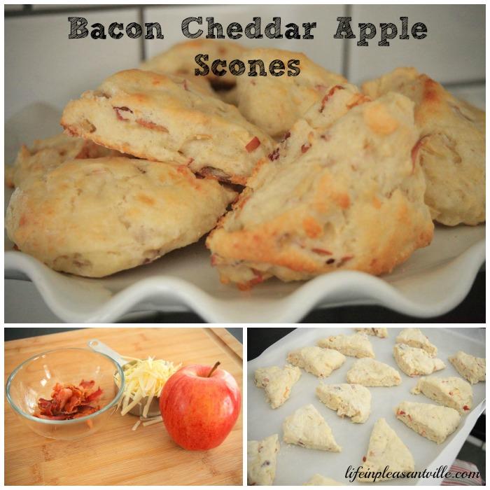 bacon cheddar apple scones
