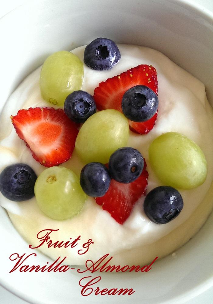 Fruit & Vanilla Almond Cream