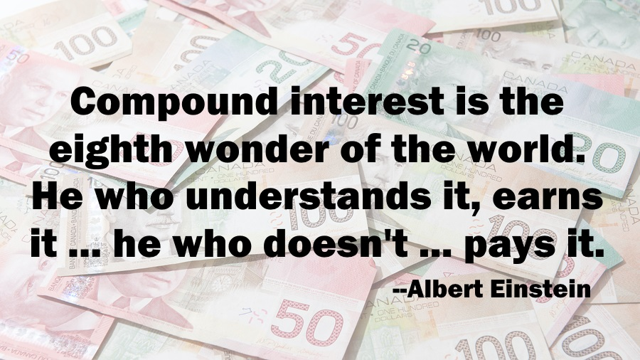 RBC RESP Einstein, compound interest quote Einstein