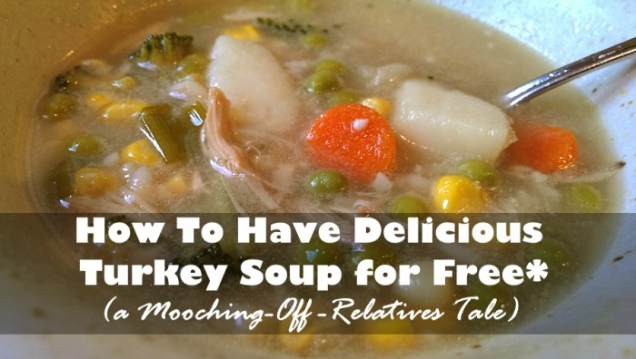 How to Have Delicious Turkey Soup for Free