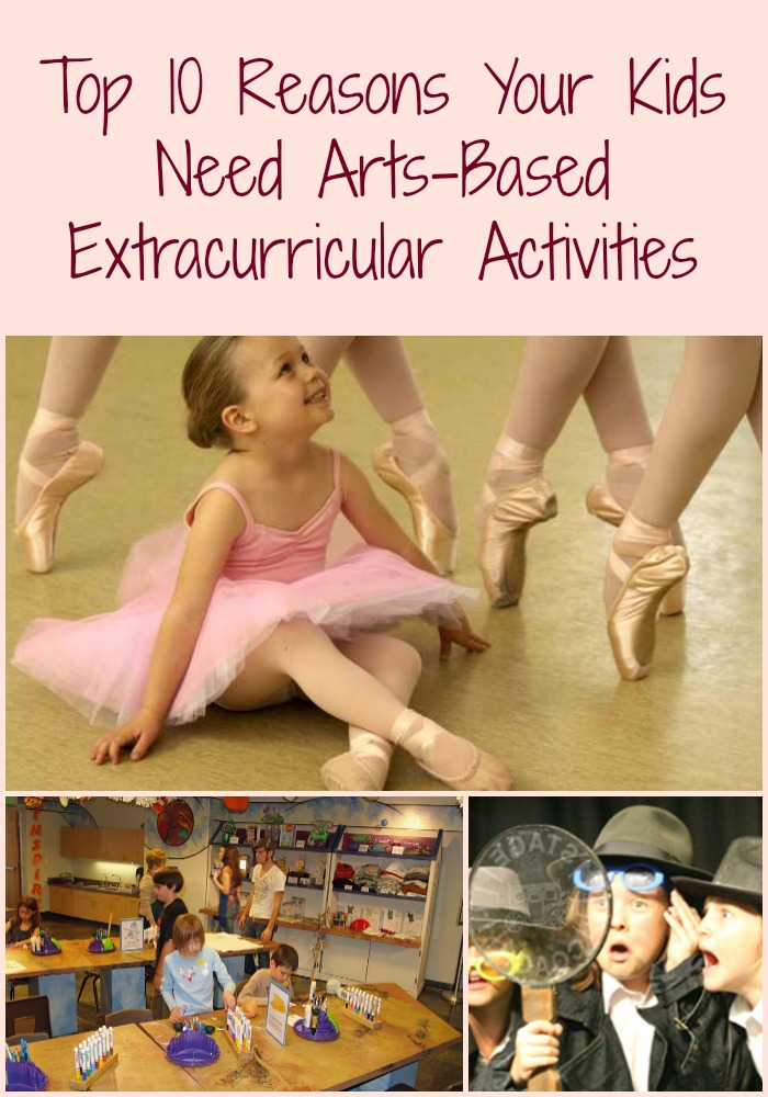 LIP top 10 arts-based extra curricular activities collage