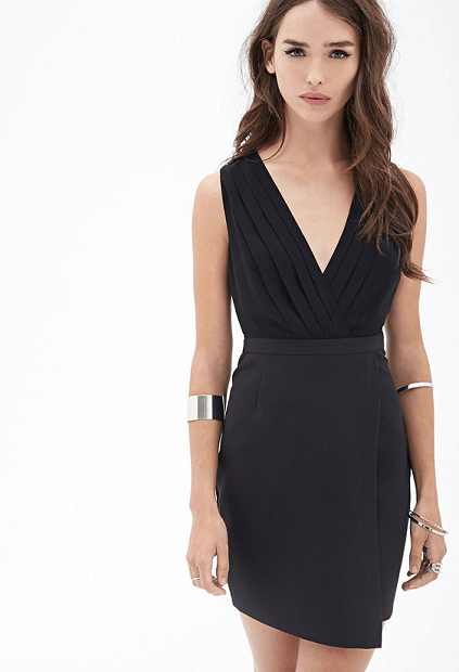 little black dress, LBD for hourglass body type from Forever 21