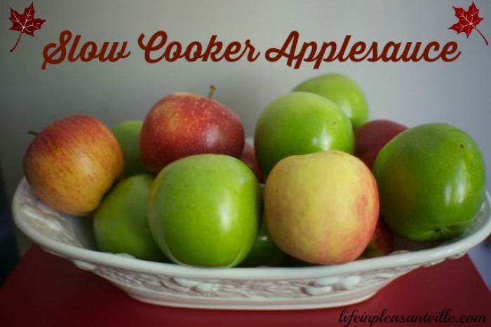 slow cooker applesauce, crockpot apple sauce, make ahead