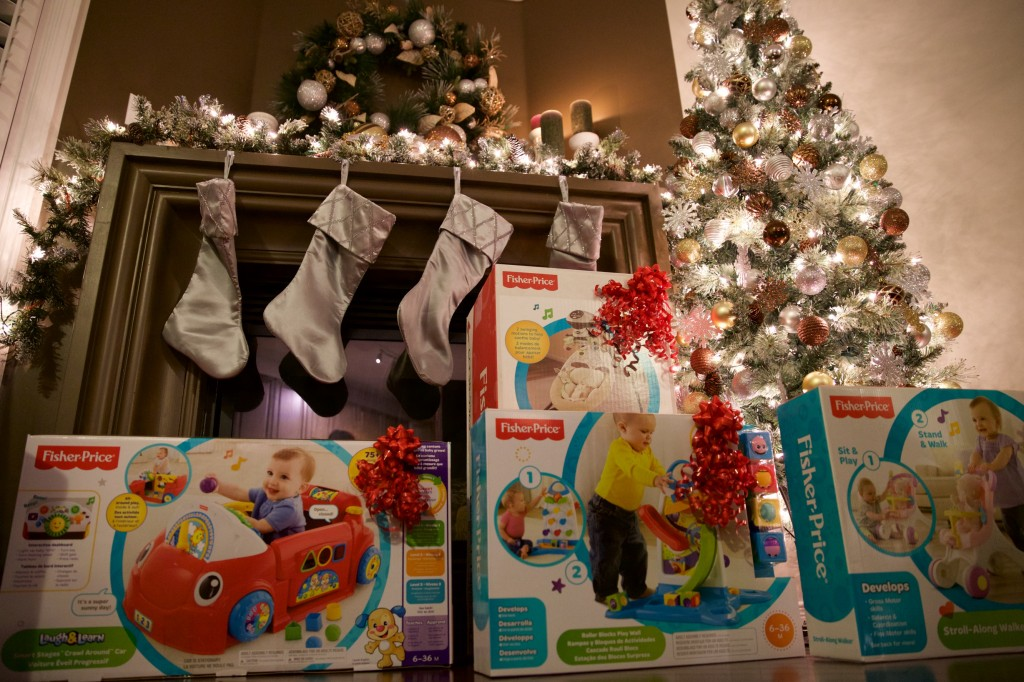 fisher price toys under tree