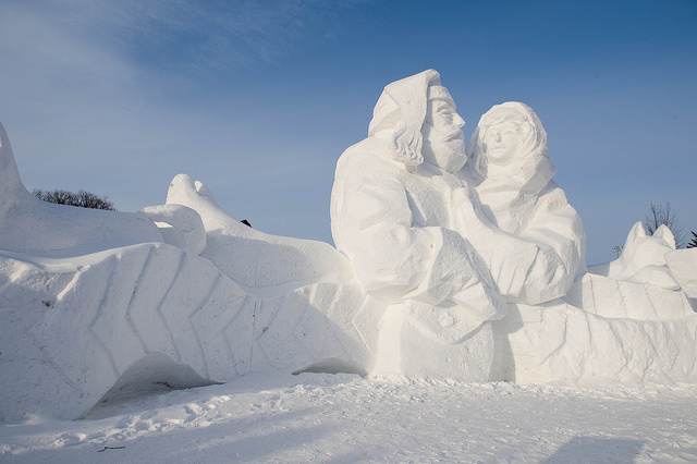 voyageur, festivals, winter festivals, Manitoba, Canada, fun, winter, ice sculptures, snow, family