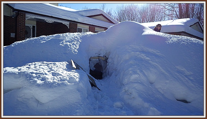 Ultimate snow fort, Buried Snow Fort, winter fun, sleep in a snow fort