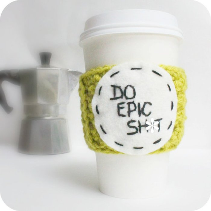 epic shit, coffee, travel mug cozy, knitted, Etsy, Live Clean, argan oil, earth friendly, healthy, Me To We, Kobo Aura H2O, crush and covet, what we love, Kobo, gadgets, cool finds, humour, favourite finds, favourite products, jewellery, handcrafted, Kenya, charity
