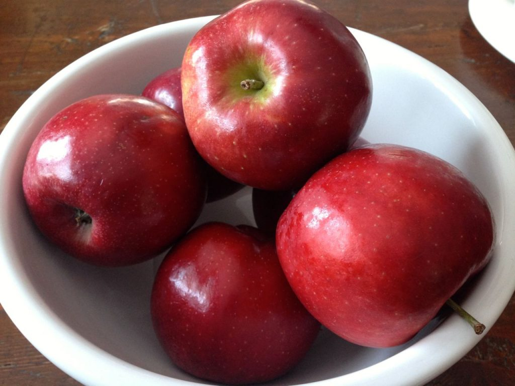 red prince apples on my table